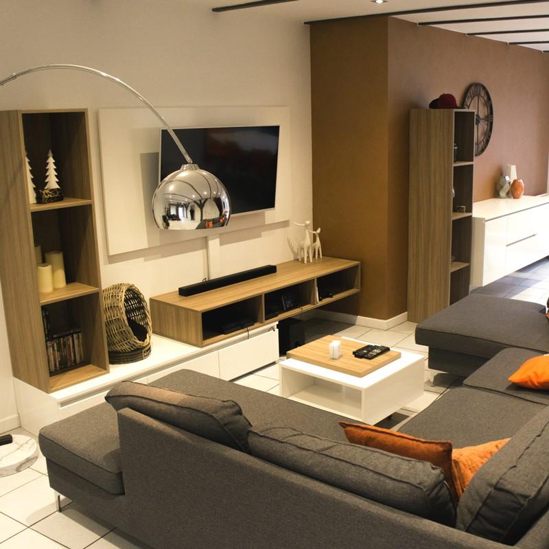 Meuble Tv sur-mesure et meuble de rangement séjour par MB Concept